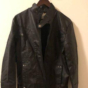 L&C Men's Black Leather Jacket